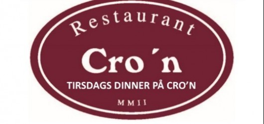 Tirsdags dinner på Restaurant Cro'n 28. november